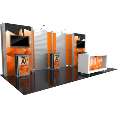 Hybrid Pro™ Modular 10′ Trade Show Exhibit Backwall • Kit 16