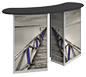 Linear™ Double Reception Counter · Left Angle View