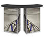 Linear™ Double Reception Counter · Front View