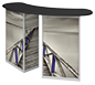 Linear™ Double Reception Counter · Right Angle View