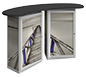 Linear™ Double Reception Counter · Back View/Cabinet Doors