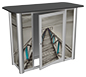 Linear™ Pro Counter · Back View w/ Optional Cabinet Door