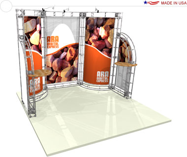 Ara 10′ × 10′ Trade Show Booth