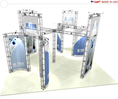 Altair 20′ × 20′ Trade Show Island Booth