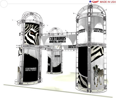Centaurus 20′ × 20′ Trade Show Island Booth