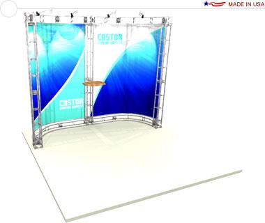 Castor 10′ × 10′ Trade Show Booth