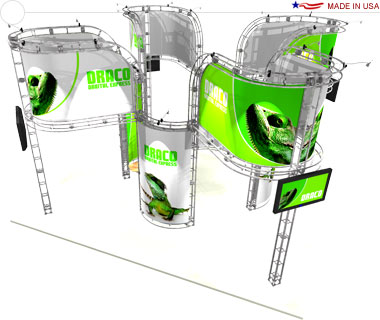 Draco 20′ × 20′ Trade Show Island Booth