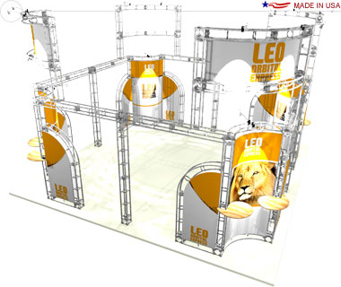Leo 20′ × 20′ Trade Show Island Booth