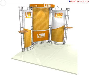 Lyra 10′ × 10′ Trade Show Booth