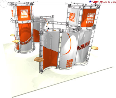 Orion 20′ × 20′ Trade Show Island Booth