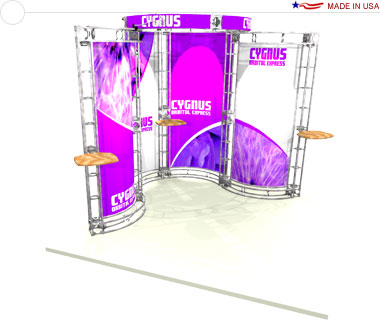 Cygnus 10′ × 10′ Trade Show Booth