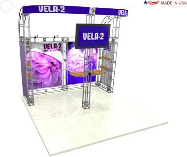 Vela-2 10′ × 10′ Trade Show Booth
