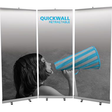 Quickwall™ Retractable Banner Stand Wall