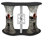 Symphony™ Oval Double Grand Counter · Custom Print Option (Front View)