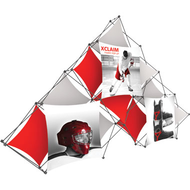 Xclaim™ Fabric Popup Display • 10 Quad Pyramid Kit 02