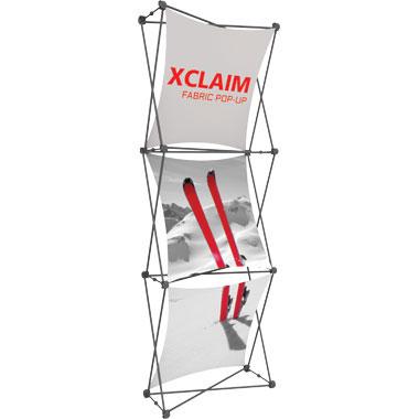 Xclaim™ Fabric Popup Display • 1×3 Kit 01
