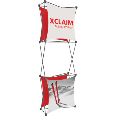 Xclaim™ Fabric Popup Display • 1×3 Kit 03