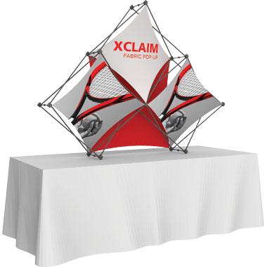 Xclaim™ Fabric Popup Display • 3 Quad Pyramid Kit 02