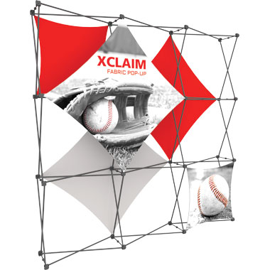 Xclaim™ Fabric Popup Display • 3×3 Kit 02