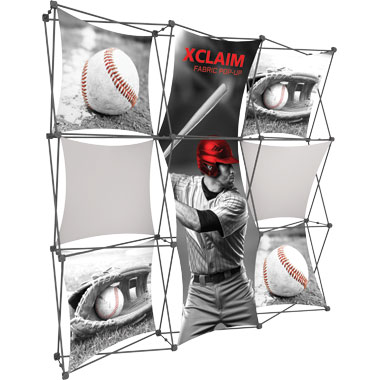 Xclaim™ Fabric Popup Display • 3×3 Kit 05