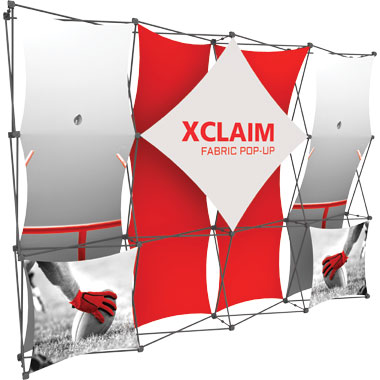Xclaim™ Fabric Popup Display • 4×3 Kit 01