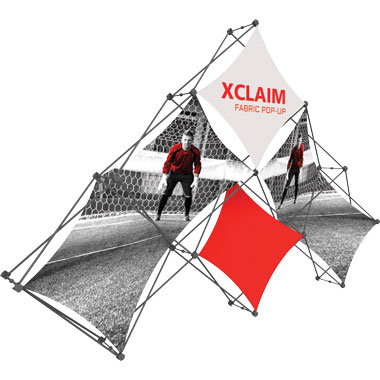 Xclaim™ Fabric Popup Display • 6 Quad Pyramid Kit 01