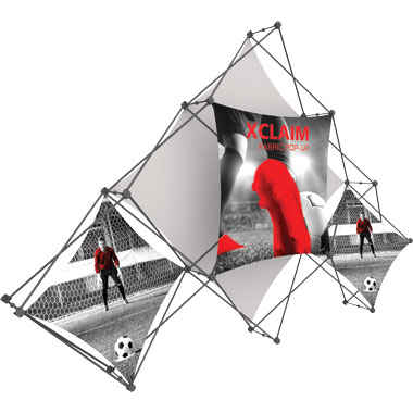 Xclaim™ Fabric Popup Display • 6 Quad Pyramid Kit 02