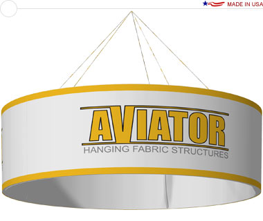 Aviator™ Hanging Banner Sign · 10′ × 36″ Circle