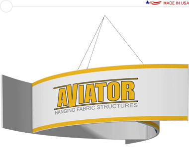 Aviator™ Hanging Banner Sign · 10′ × 42″ Pinwheel