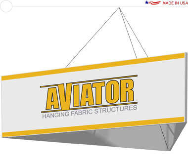 Aviator™ Hanging Banner Sign · 10′ × 42″ Triangle