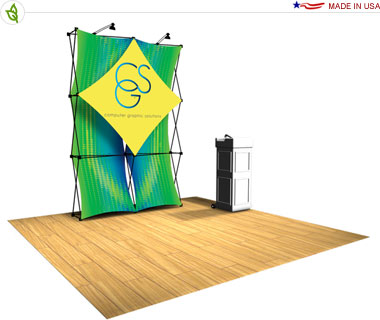 Xpressions Snap!™ Tension Fabric Pop Up Display · Kit 2x3 A