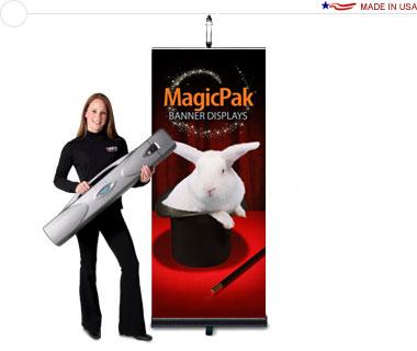 MagicPak® Retractable Banner Display — Light & Case Combo Kit
