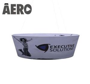 Aero™ • Tapered Round Hanging Banner