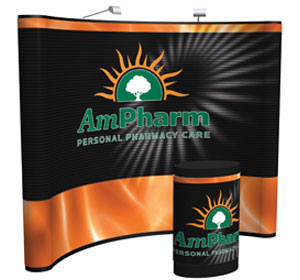 Arise™ • 10′ Curve Pop Up Display w/ Full Mural