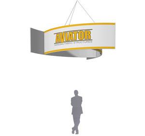 Aviator™ Hanging Banner Sign • 10′ × 36″ Pinwheel