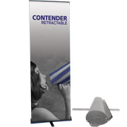 Contender™ Mini Retractable Banner Stand