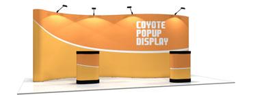 Coyote™ • 20′ Serpentine Pop Up Display