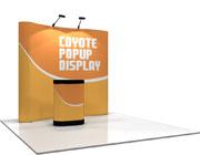 Coyote™ • 8′ Serpentine Pop Up Display