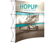 Hop Up™ • 3×3 Curved Pop Up Display