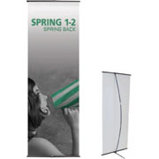 Spring™ 1-2 Tension Banner Stand
