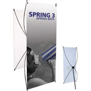 Spring™ 3 Tension Banner Stand