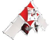 Xclaim™ Fabric Popup Display • 10 Quad Pyramid Kit 01
