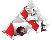 Xclaim™ Fabric Popup Display • 10 Quad Pyramid Kit 02
