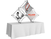 Xclaim™ Fabric Popup Display • 3 Quad Pyramid Kit 01