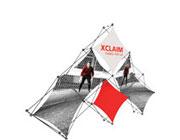 Xclaim™ Fabric Popup Display • 6 Quad Pyramid Kit 01