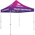 Standard 10′ Tent Kit w/ Full Dye-Sub Print
