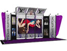 Part of a custom trade show booth design