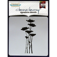 Donna Downey Signature Series Stencils - Poppy Forest DD007, Scrapify, Australia