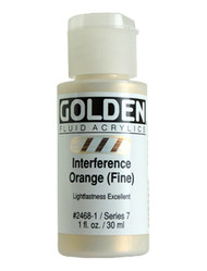 Golden, Fluid Acrylics, Artist Quality, Interference Orange (Fine)  2468, 1 fl.oz, Scrapify, Australia