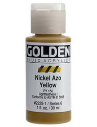 Golden, Fluid Acrylics, Artist Quality, Nickel Azo Yellow #2225, 1 fl.oz, Scrapify, Australia